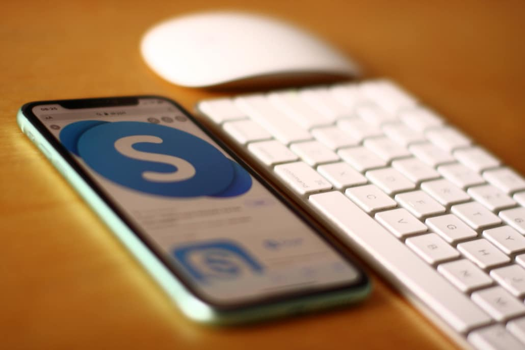 skype logo auf handy